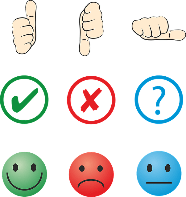 Earn money online without investment - feedback -thumbs up or down, tick, cross, or question, happy, unhappy, or neutral