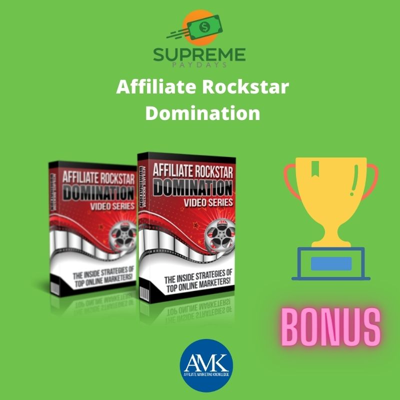 Affiliate Rockstar Domination - Supreme Paydays Review