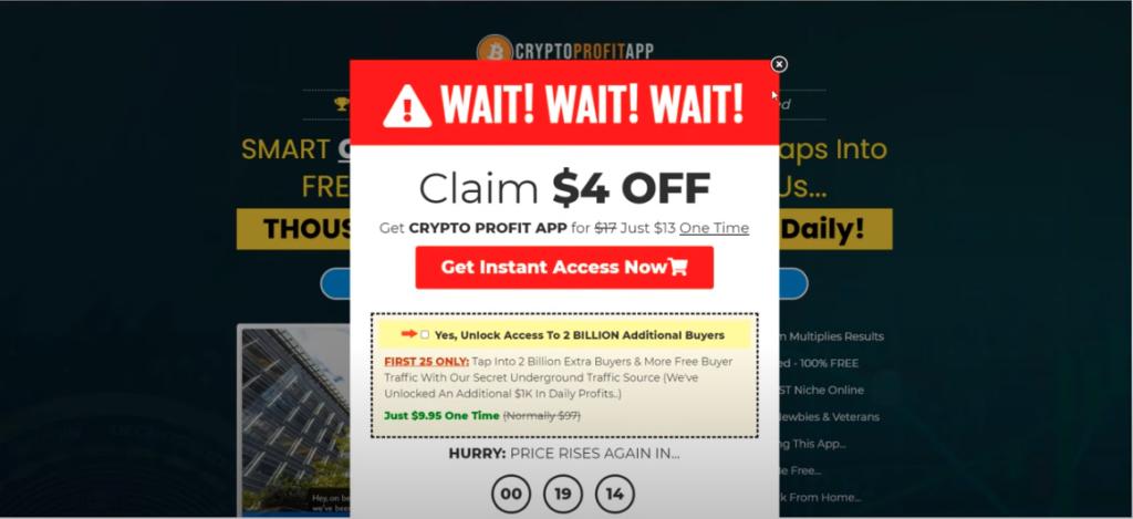 Get a discount - Crypto Profit App